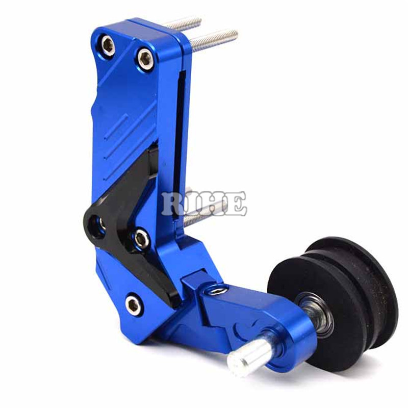 Motorcycle CNC Rear Axle Spindle Chain Adjuster Blocks chain adjuster tensioners For yamaha fz6 r6 fz1 r1 ybr 125 r25 xj6 fz8