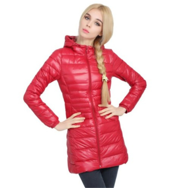 Women Hooded   Parkas   Brand Winter Ultra Light Coats Women's Long Down Plus Size Jackets Ladies Outwear Duck   Parkas   chaqueta mujer