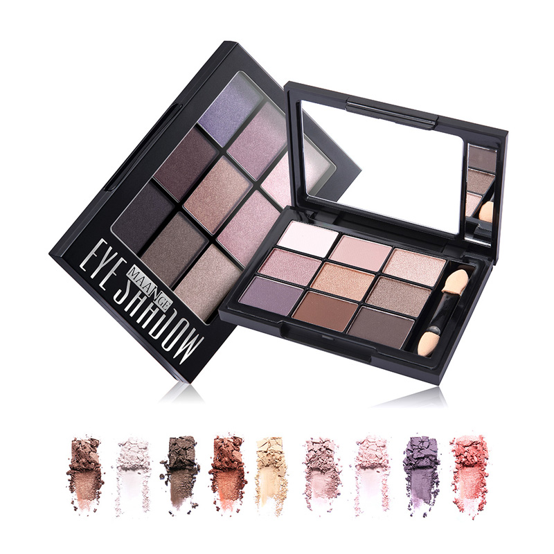 1pcs 4 kinds Women Girls Professional 9 colors Makeup Eyeshadow Pallete Shimmer Matte With Mirror Eye Shadow Make Up Palette