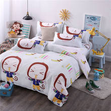 cute monkey rabbit bedding set single double queen king size duvet cover for children girl 3pc