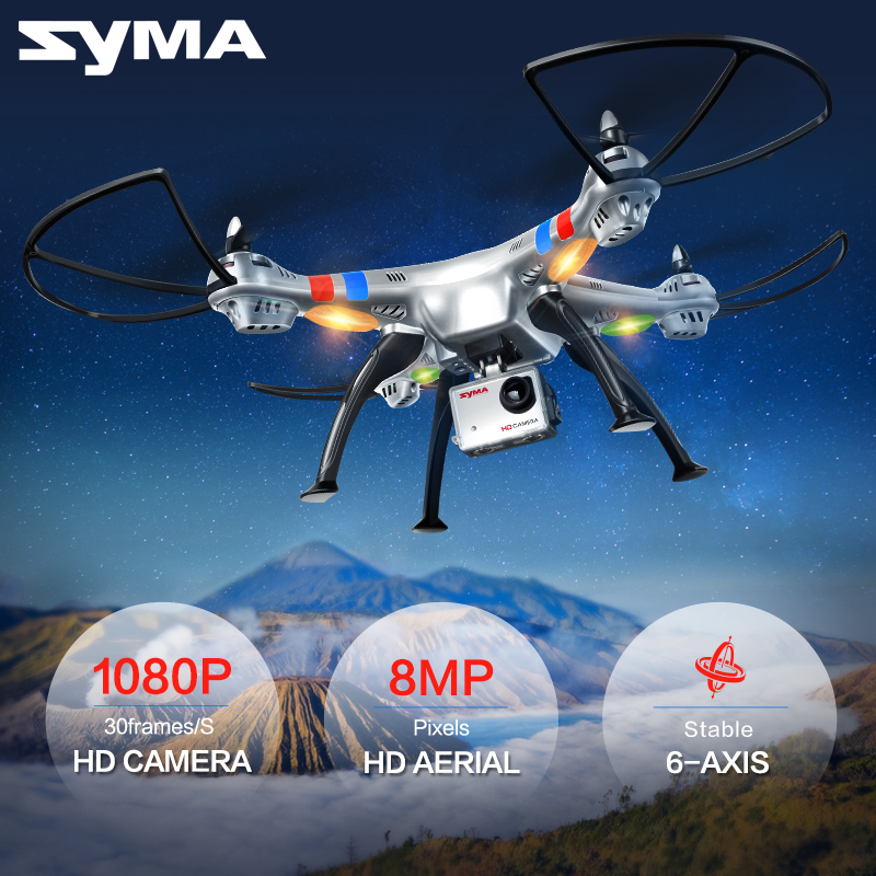 SYMA X8C X8W X8G 2.4G 4CH 6 Axis Professional FPV Drone With 8MP(X8G) HD Camera Quadcopter Wifi Real-time Transmit RC Helicopter image