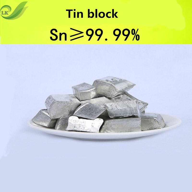 100G Tin Block High Purity Tin Block Metal Element Collection Tin Ingot Pure Tin Block For Metal Experiment