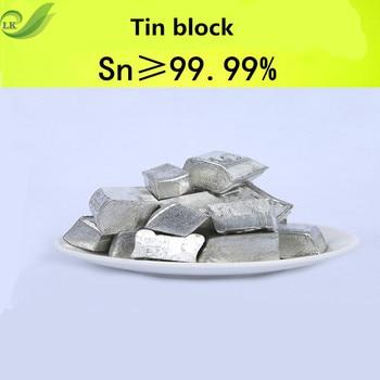 100G Tin Block High Purity Tin Block Metal Element Collection Tin Ingot Pure Tin Block for Metal Experiment high purity hafnium metal beads 1 grams 99 9% purity