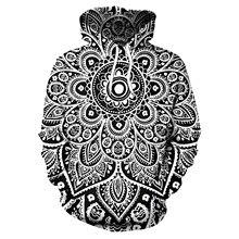 Men Hoodie Mandala Flower Print Hoodies Men Loose Hooded Sweatshirt Streetwear Sudaderas Para Hombre