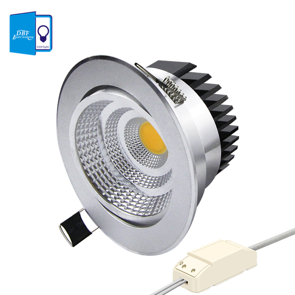 [DBF]Silver Housing LED COB Downlight Dimmable AC110V/220V 6W/9W/12W/15W/18W Recessed LED Spot Light Decoration Ceiling Lamp[DBF]Silver Housing LED COB Downlight Dimmable AC110V/220V 6W/9W/12W/15W/18W Recessed LED Spot Light Decoration Ceiling Lamp