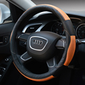 2015 New Sport Genuine leather cowhide Car Steering Wheel Covers Fit Most Car Styling Black and blue /black and blue...