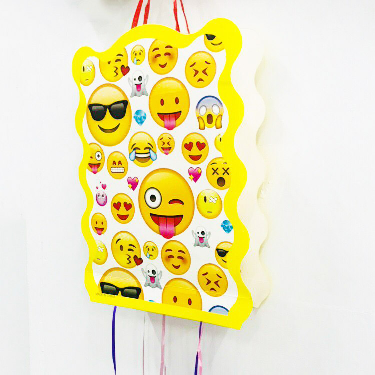 1pc Set Cartoon Smile Face Emoji Folding Pinata Kids Birthday Party Game Decoration Funny Boys Supplies In Gift Bags Wrapping