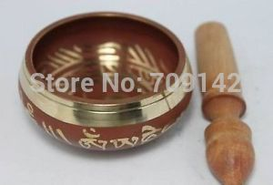 Details About Tibet Chinese Buddhist Old Red Copper Singing Buddha Bowl Wholesale Bronze Buddhism Copper Singing Bowls