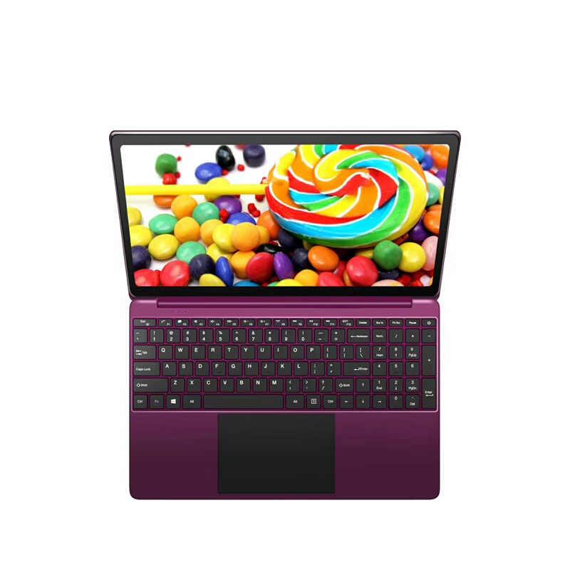15.6 inch máy tính xách tay máy tính 1920*1080 IPS N3450 Quad core 6 GB RAM 64 GB + tùy chọn 240 GB SSD freeshipping Windows máy tính xách tay máy tính xách tay