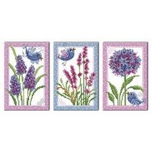 cross-stitch kits DIY dmc mulina cross stitch set embroidery suit print Flowers and birds cactus enough canvas for