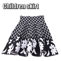Autumn Winter White Flowers Lattice Knee Skirt Girls Knitting Skirts Princess Skirts Tutu Girl Child Clothing Kids Skirts