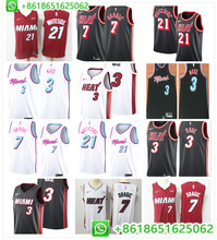 a072af8c4f9 Sewn Miami Hassan Whiteside Goran Dragic Dwyane Wade Basketball jerseys for  men camiseta maillot(China