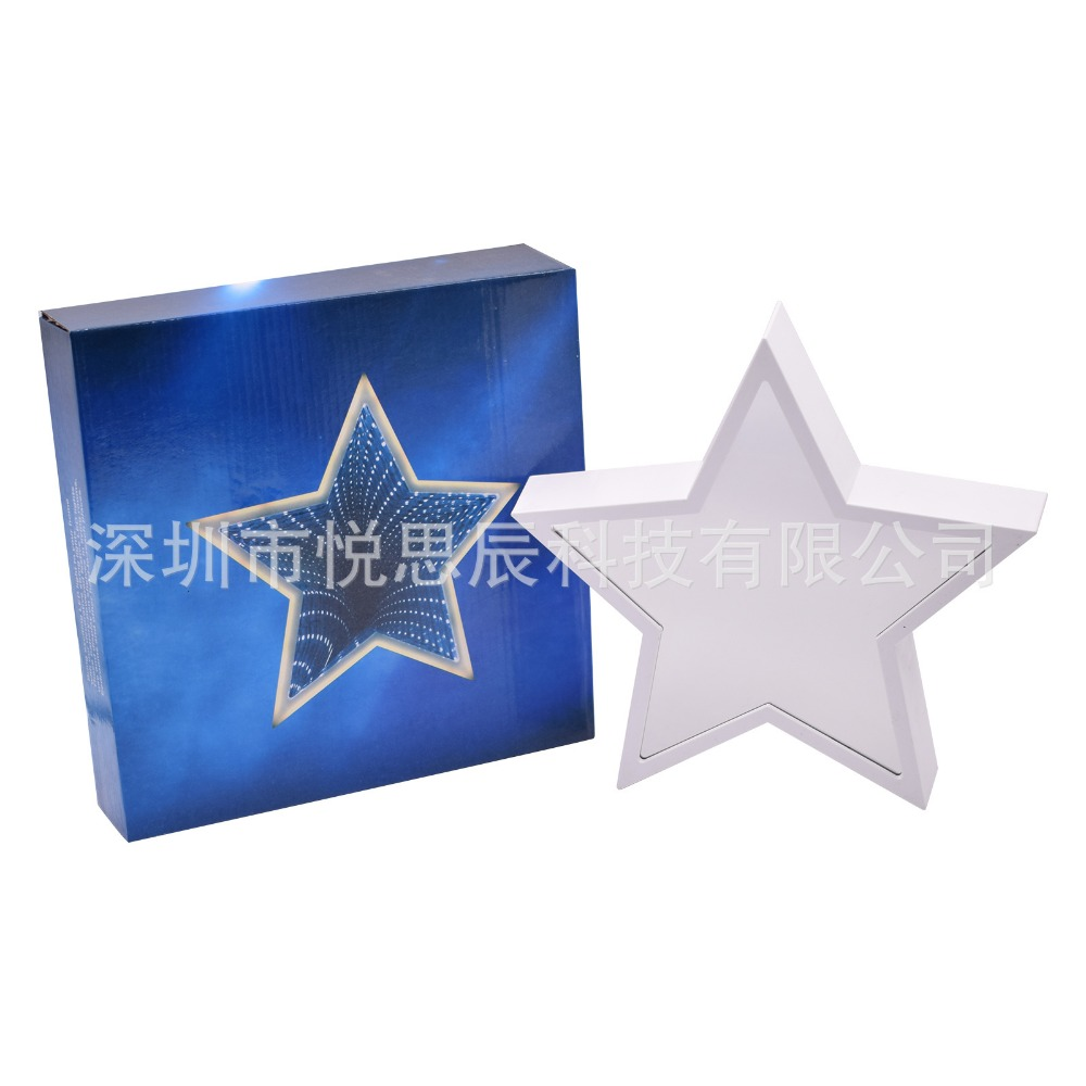Купить с кэшбэком LED Fantasy Night Lights Mirror Lights Star Tunnel Lights Girls Bedroom Decoration Holiday Gifts