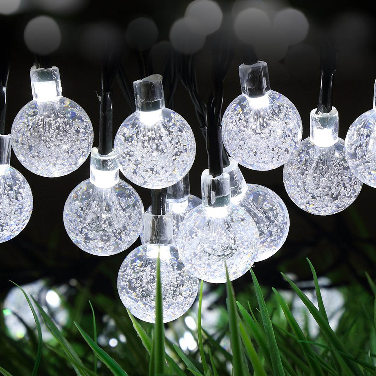Jiawen Waterproof IP65 4.5M 30leds Solar Powered LED String lights for Garden,Yard,Home, and Holiday Decorations string lights