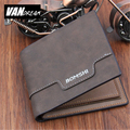 Leather short Men wallet small coin zipper famous brand 2016 hand bag luxury designer high quality money clip card dollar price