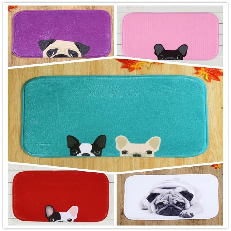 HUAMAO 40*60cm Bath Mat Dog Printed MatToilet Carpet Absorbent Shower Bathroom Mat Outdoor Rugs Doormat Kitchen Floor Mat