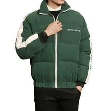 YFFUSHI 2017 Fashion Design Winter Jacket Men Letter Print Parka Jackets Men Stand Collar Winter Coat Casual Style Plus Size