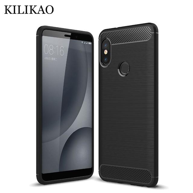 sports shoes a5a2a 0d21d US $2.59 35% OFF|KILIKAO sFor Xiaomi Redmi Note 5 Case Silicone Soft TPU  Carbon Fiber Phone Case For Redmi 5 5 Plus Note 5A Note 5 Pro Case Cover-in  ...