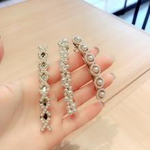 Korea Handmade Flower Crystal Pearl Hairpins Hair Accessories  For Girls Diamond Bows Rim Hairpin Clips Barrette