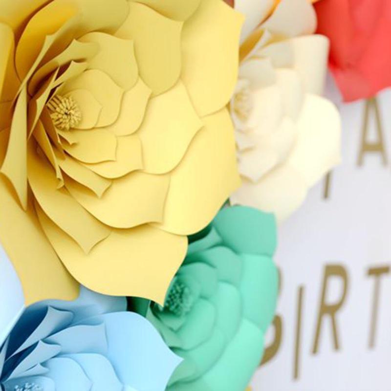 2PCS/Set 3D Paper Flower Wedding Decoration Wall Decor Wedding Party ...