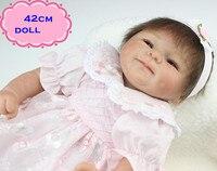 18 אינץ NPK Brinquedos מתנה הטובה ביותר בובות תינוק שנולדו מחדש סיליקון בצבע ורוד חצאית כמו נסיכה מקסימה אמיתי מחפש Reborn בובה לילד
