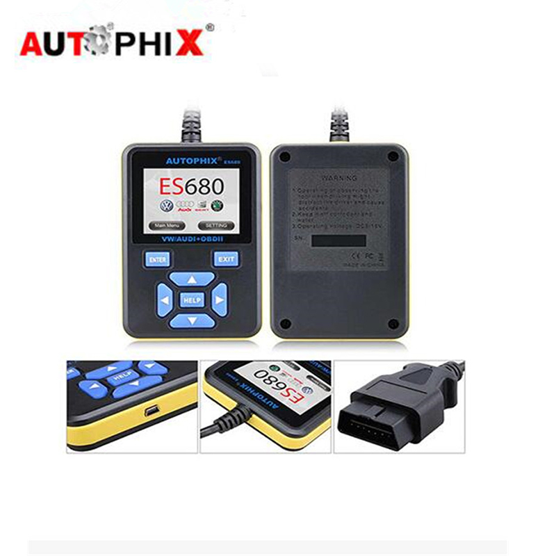 New Autophix ES680 Car Diagnosti Obd2 Tools SRS ABS Scan Tools For VW Audi Seat Skoda Jetta Golf Beetle Touareg Passat Scanner one pair car led interior lamp luggage compartment light case for audi vw skoda seat k 030901 freeshipping ggg