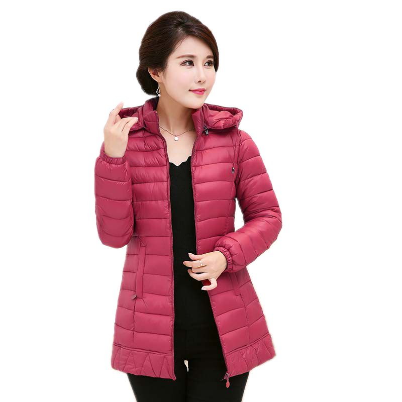 2017 Real Rushed Full Womens Winter Jackets And Coats Winter Women 's Cotton Coat Leisure Jacket Hooded Padded Middle Aged