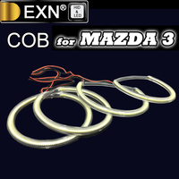 Ultra Bright COB Angel Eyes Halo Rings Kit 4pcs/set Headlights For MAZDA 3 2004 2008 Years COB Angel Eyes Ring Bulb High Quaity