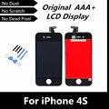 100% испытания хорошей оригинальный жк-дисплей для iPhone4S сенсорный экран планшета с рамной конструкции для iPhone 4S замена + инструменты