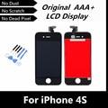 100% testado boa Original LCD tela de toque digitador com conjunto quadro para iPhone4S para iPhone 4S substituição + ferramentas