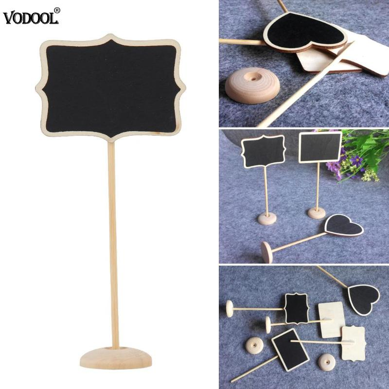 10pcs Mini Retangle Chalkboard Blackboard Stand Place Holder Wedding Event Party Decorations Lolly Party Tag