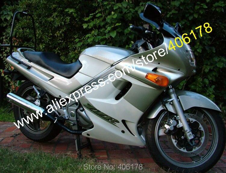 Hot Sales,motorcycle fairing kit for Kawasaki 90-07 ZZR-250 ZZR250 ZZR 250 1990 -2007 Gray White bodywork fairings set