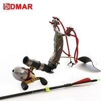 DMAR Avcılık Balıkçılık Tekerlek Rulman Topları Küçük Iplik Makarası Metal Sapan Çekim için Balık Oklar Bow Outdooor Ekipmanları