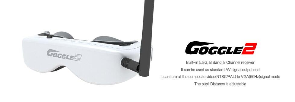 Lunettes de lunettes vidéo Walkera 2 FPV 5.8G pour Drone de suivi de tête H500 QR X350PRO TALI H500 Scout X4 livraison gratuite