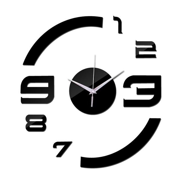 2016 New Quartz Watch Wall Clock Acrylic Mirror Diy Clocks Reloj De Pared Horloge Murale Living Room Modern Home 3d Stickers