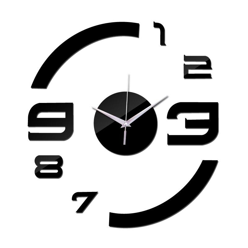 2019 Novo Relógio De Quartzo Relógio Relógio de Parede Espelho Acrílico Diy Clocks Reloj De Pared Horloge Murale Sala de estar Moderna Casa 3d adesivos