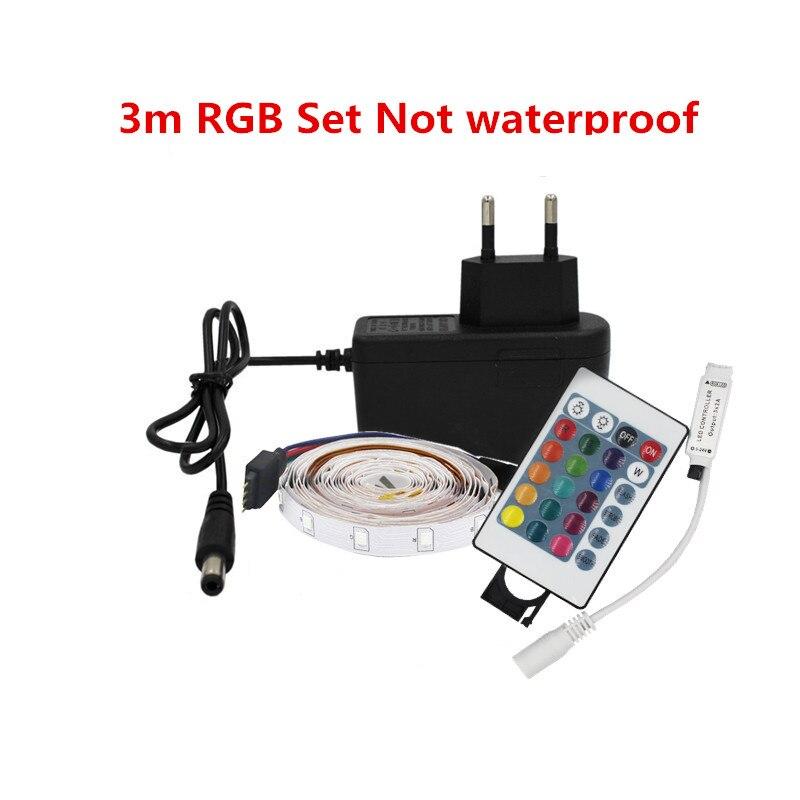 2m 3m 5m RGB led strip waterproof 2835SMD ribbo LED neon tape rope light 60led/m 12v Decorative lights