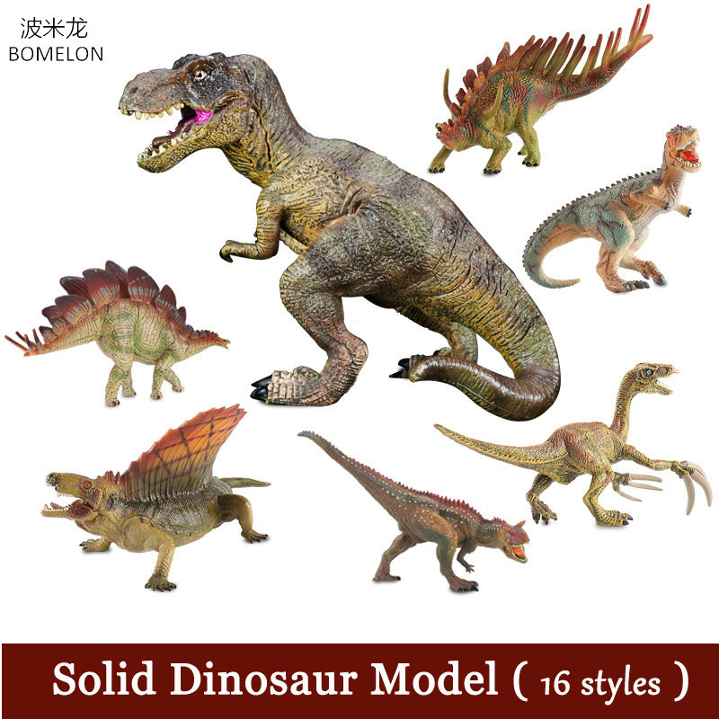 Simulation Solid Dinosaur Models Tyrannosaurus Rex Toy Figures Animal Model Middle Size Jurassic World Children Toys Boys Gifts 37 cm tyrannosaurus rex with platform dinosaur mouth can open and close classic toys for boys animal model without retail box