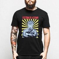 Fashion Men Print System Of A Down T Shirt Metal Rock Band Music Casual Black O
