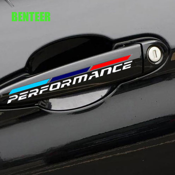 power motorsport car door handle sticker for bmw E30 E34 E36 E39 E46 E53 E60 E70 E71 E85 E87 E90 E91 E92 E83 F10 F20 F21 F30 image