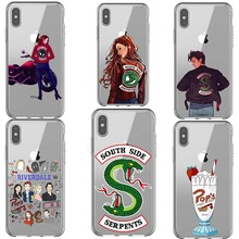 American TV Riverdale Phone Case For iPhone 5s se 6 6S Plus 7 8 X XR XS MAX Transparent Soft Silicone Coque Cover