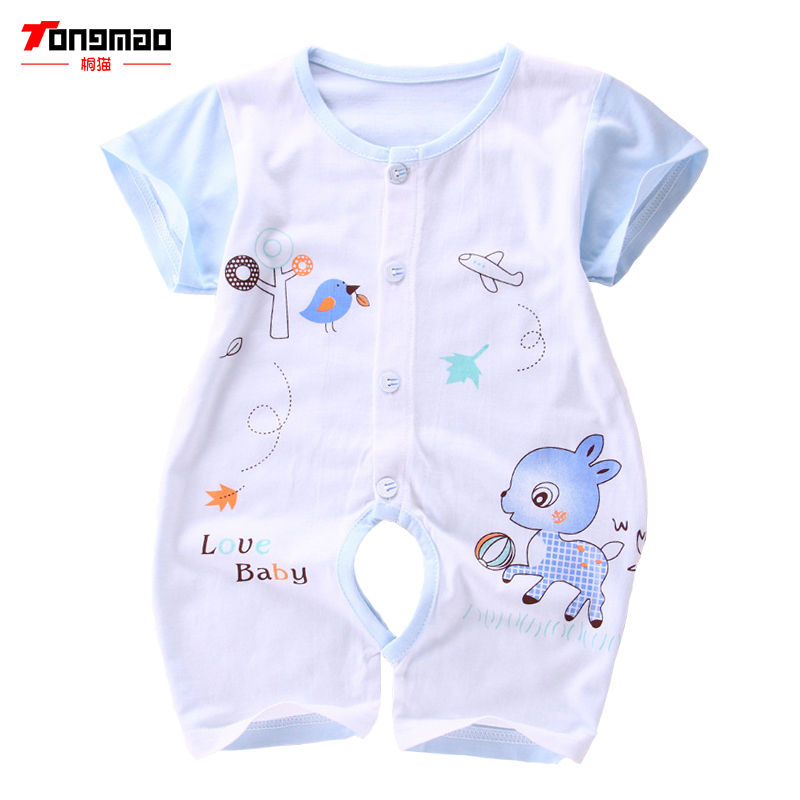 TONGMAO Newborn Baby Boy Rompers Summer Kids  Clothes Short Sleeve One Pieces Baby Jumpsuits Brand Clothing for Baby Boys baby boys rompers infant jumpsuits mickey baby clothes summer short sleeve cotton kids overalls newborn baby girls clothing