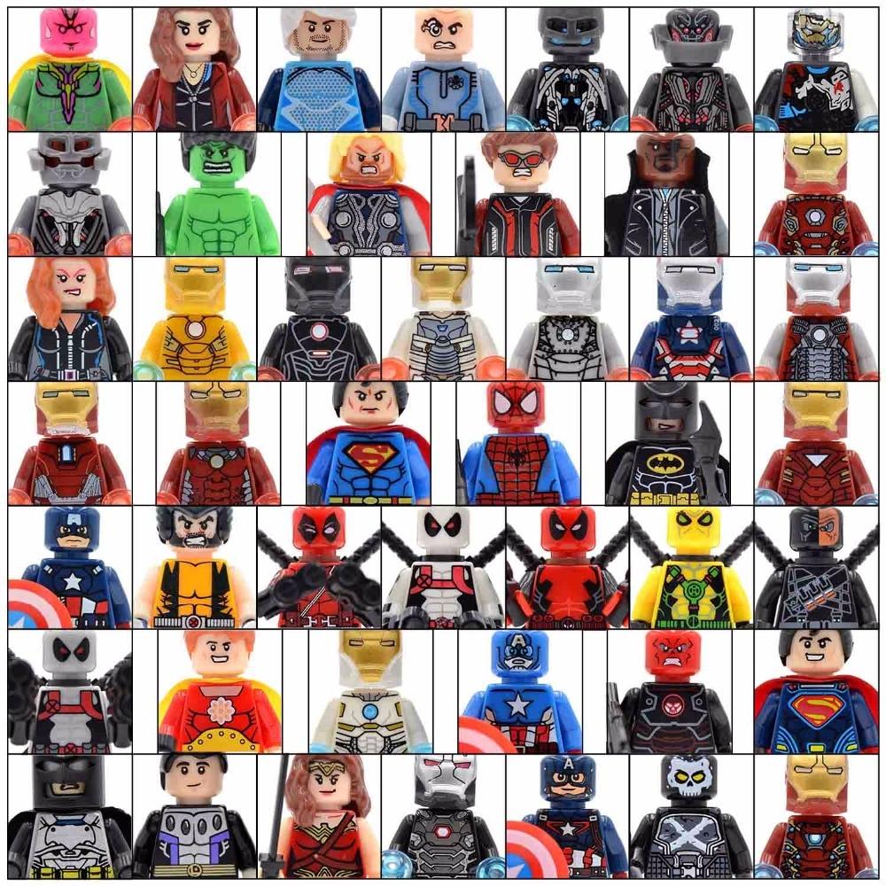 20PCS/lot Superman Spider-Man Iron Man Thor Super Heroes Deadpool X-Men Building Blocks Kids Gifts Toys spider man deadpool vol 4 serious business
