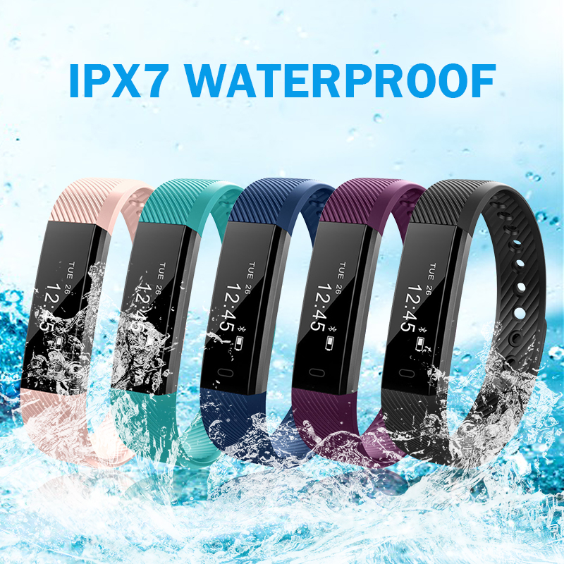 Outdoor Fitness Tracker OLED Running Walking Pedometer Heart Rate Monitoring Smart Step Counter Health Sleep Activity Tracker