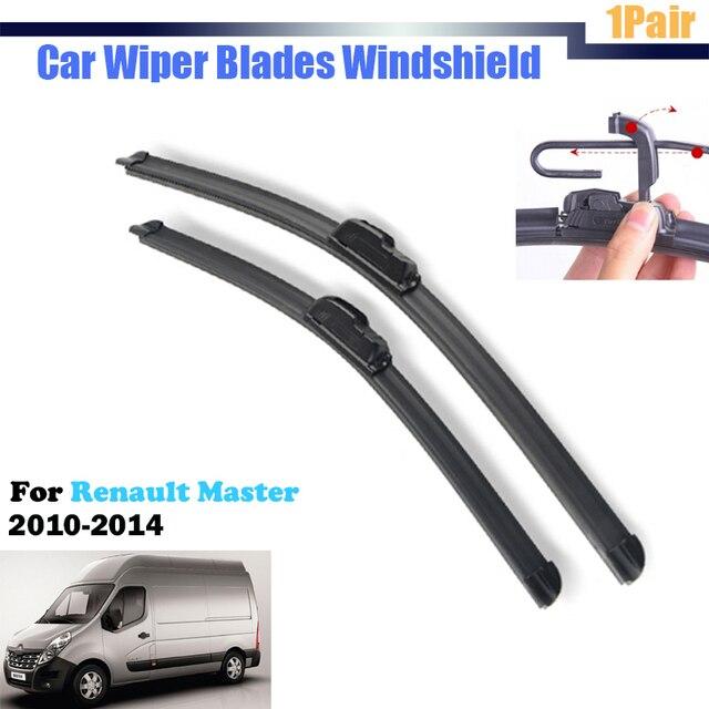 1 Pair Car Janela Ventosa de Borracha Macia Auto Frameless Wiper Blades Para Renault Master 2010-2014