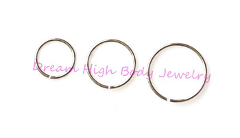 Nose Ring Hoop  316l surgical steel  nostril jewellery thin 0.6mm 0.8mm 1mm Earring Eyebrow  Cartilage Ring  Stud Various Sizes