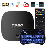 SUNVELL T95D TV Box Quad Core RK3229 CPU DDR3 32bit 1 8G Android 6 0 4K
