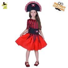 30741315872a5 Halloween Enfants Pirate Costume pour Filles chemise deluxe mignon fille  carnaval enfants pirates des caraïbes costume Vêtements