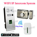 720P IP Wifi Doorbell Camera w Motion Detection Alarm Fingerprint Recognition Wireless Video Intercom APP Control IP Door Phone