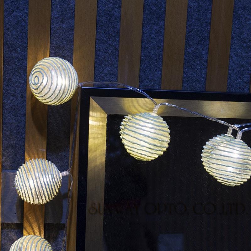 20 led ватный шарик огни Батарея работает СВЕТОДИОДНЫЙ гирляндой струнные гирлянда огни для Праздничное Освещение партии Свадебные украшени...